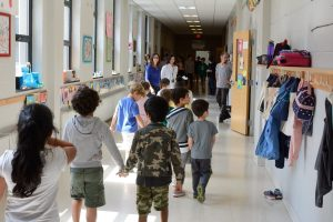 Transition to Grade 1: Kindergarten students pay a visit