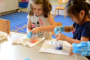 Color-mixing in Kindergarten