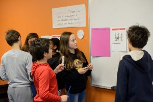 Middle School students learn IB program concepts