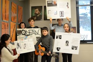 Musical legends: Grade 6 students in Music class