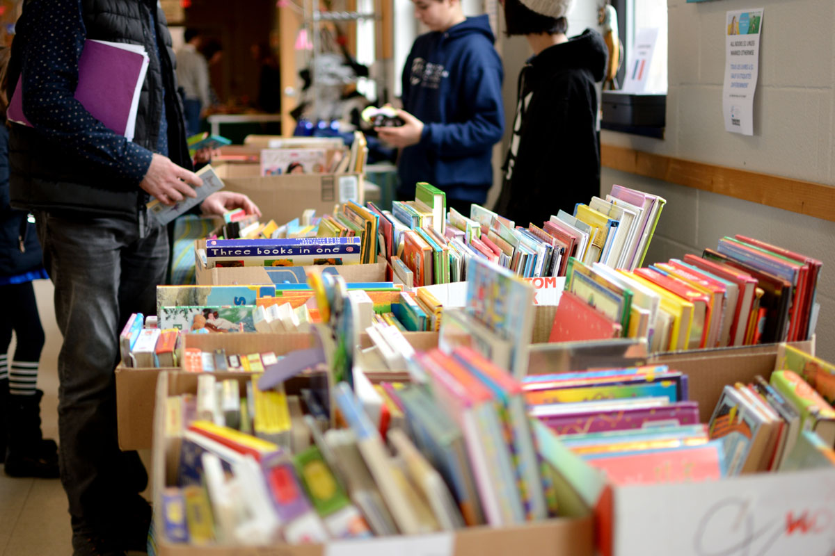 Book Sale donation to Embrace Kids Foundation